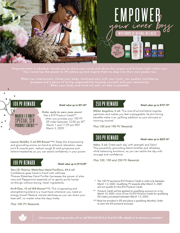 Young Living Australia Monthly Special - October, 2019