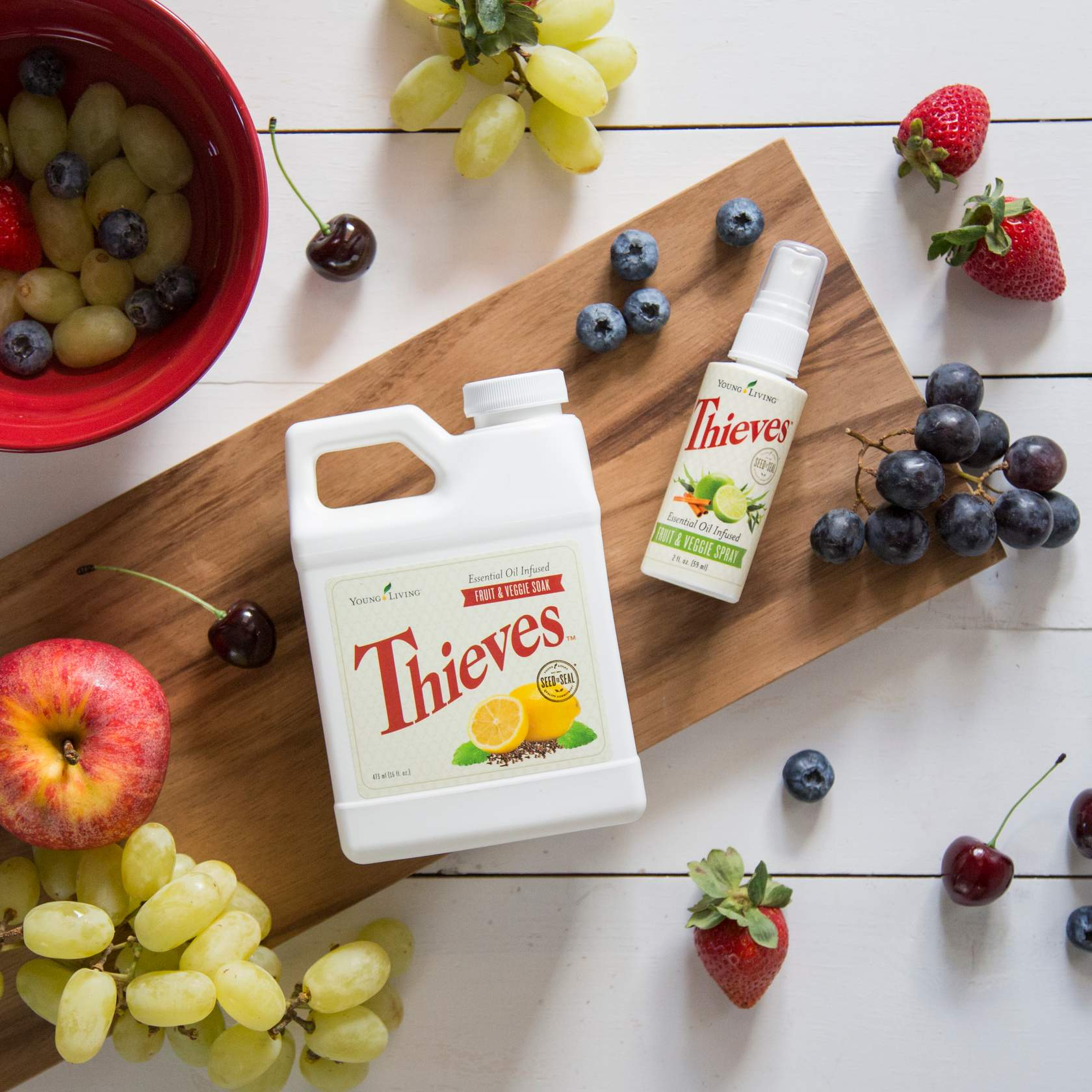 thieves fruit and veggie spray and soak