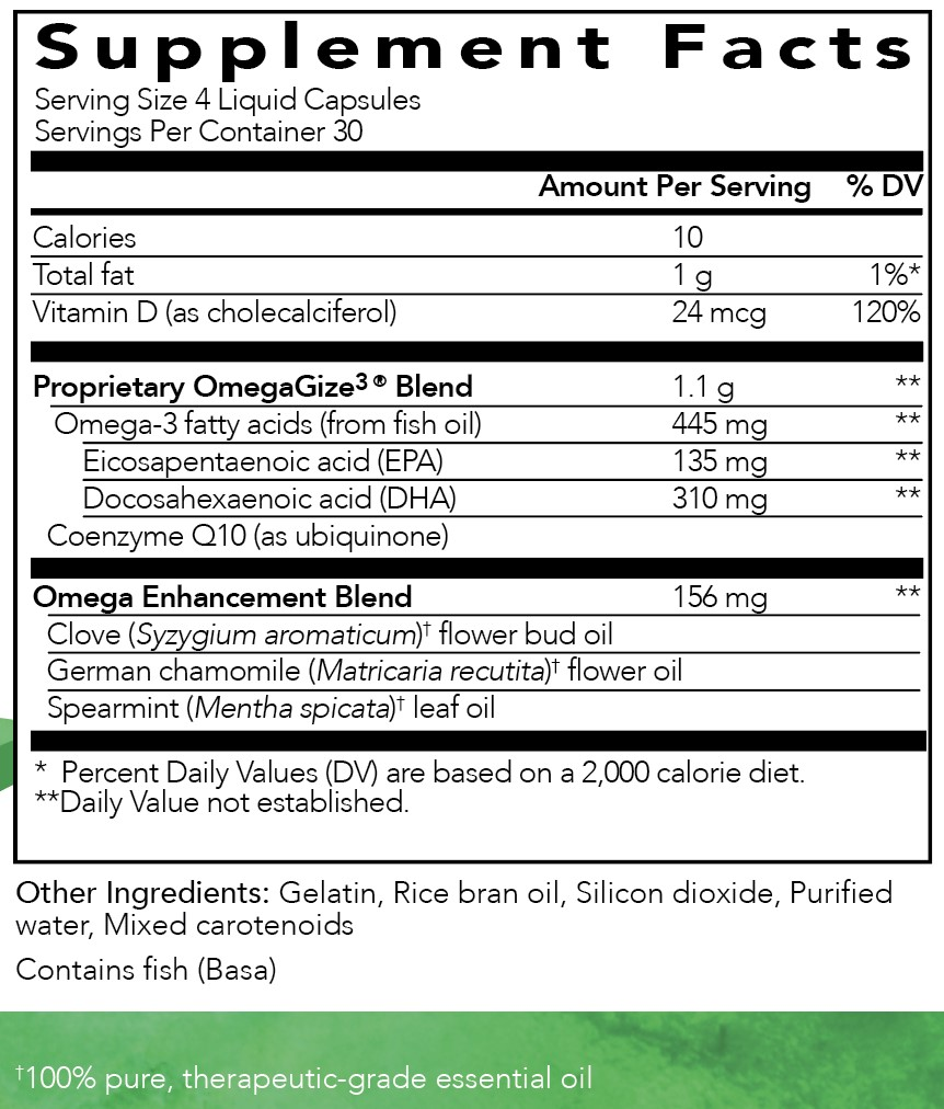 Omegagize3 young living essential oils ingredients fish oil mightylinksfo