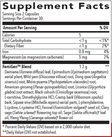 Supplement Information - FemiGen Capsules