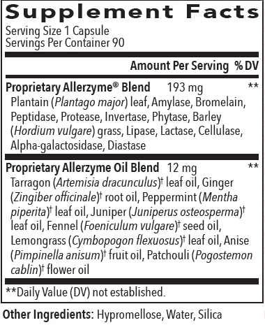 Supplement Information - Allerzyme Capsules
