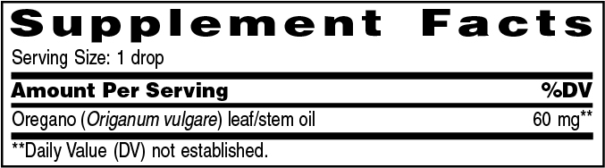 Supplement Information - Oregano Vitality™ – 5ml