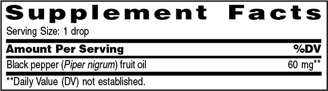 Supplement Information - Black Pepper Vitality™ – 5ml