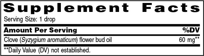 Supplement Information - Clove Vitality™ – 5ml