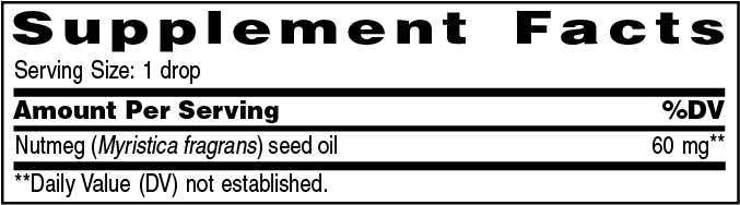 Supplement Information - Nutmeg Vitality™ – 5ml