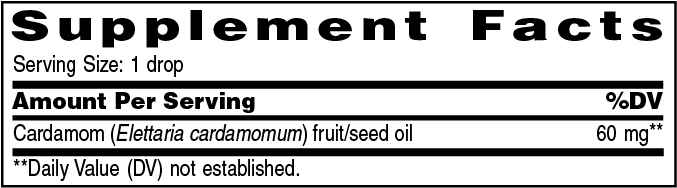 Supplement Information - Cardamom Vitality - 5ml