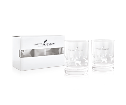 Young Living Rudolph Glasses