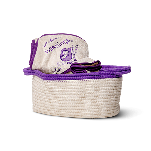 Seedlings Basket, Towel & Washcloth