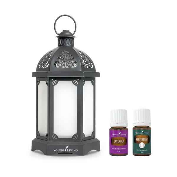 Charcoal Lantern Diffuser Set