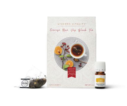 Orange Rose Hip Black Tea Set