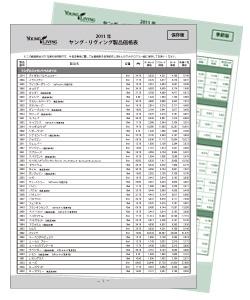 製品価格表
