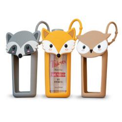 Woodland Creatures Silicon hand sanitizer holder